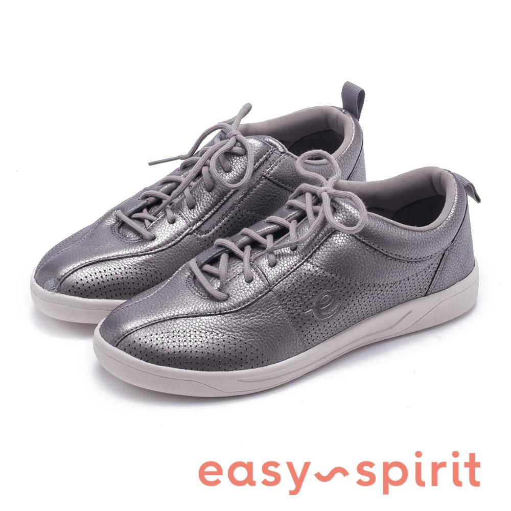 Easy Spirit FRENEY8 輕時尚絨面綁帶休閒鞋-灰色