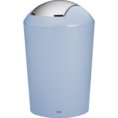 《KELA》搖擺蓋垃圾桶(藍1.7L)