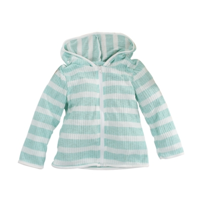 條紋抗UV防曬薄外套  k51176 魔法Baby