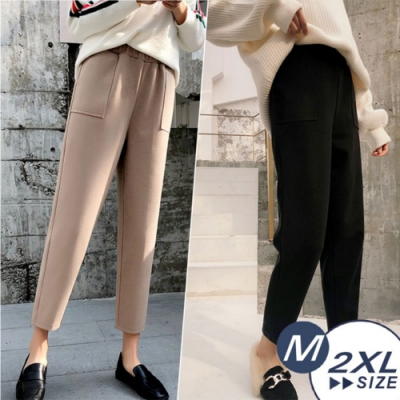 【LANNI 藍尼】現+預 街頭大口袋保暖毛呢褲-3色(M-2XL)●