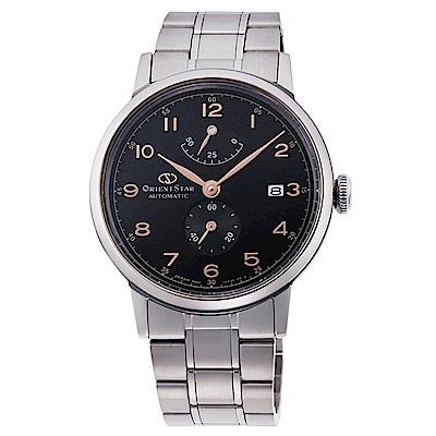 ORIENT  東方之星數字時標手動機械錶-黑面x38.5mm