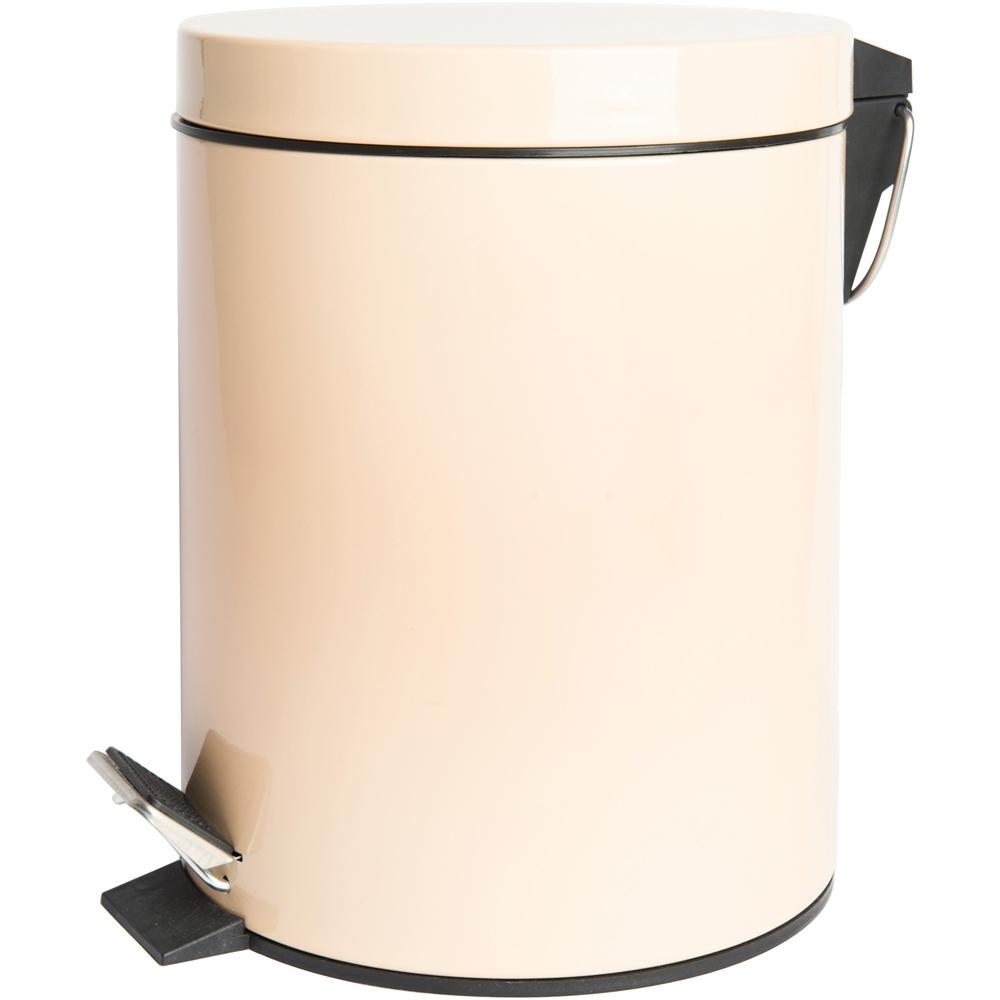 《EXCELSA》Cleany腳踏式垃圾桶(米黃5L)