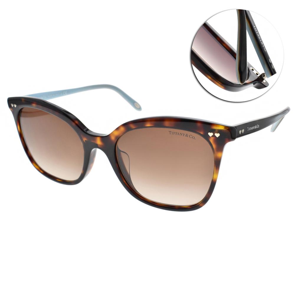 Tiffany&CO.太陽眼鏡 簡約典雅貓眼/琥珀#TF4140F 80153B