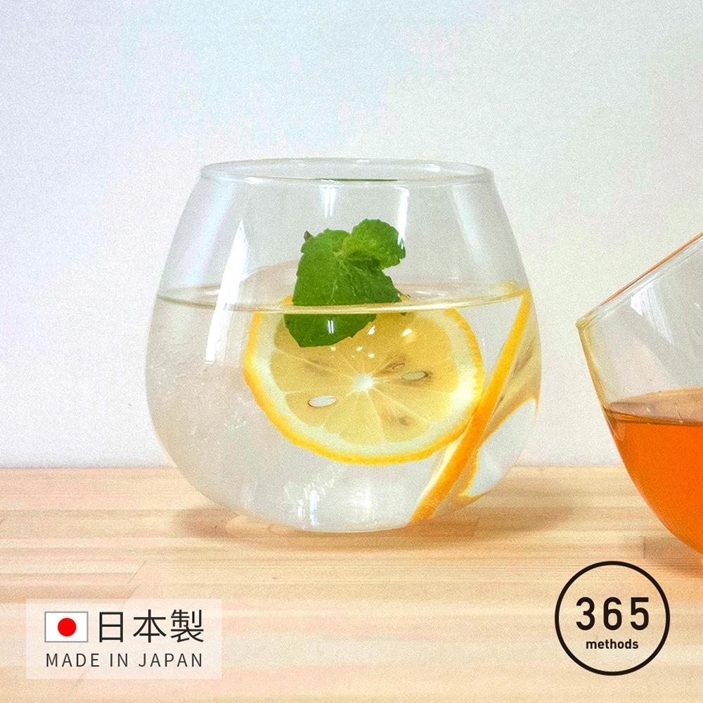 日本365methods 日製晚酌微醺搖曳玻璃杯-495ml  (不倒翁杯)