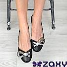 Zaxy 巴西 女 LUXURY 華麗閃耀魚口鞋 (黑)