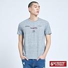 5th STREET 潮文字印花 短袖T恤-男-麻灰色