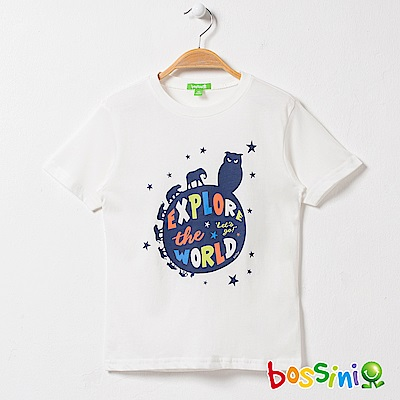 bossini男童-印花短袖T恤19珍珠白