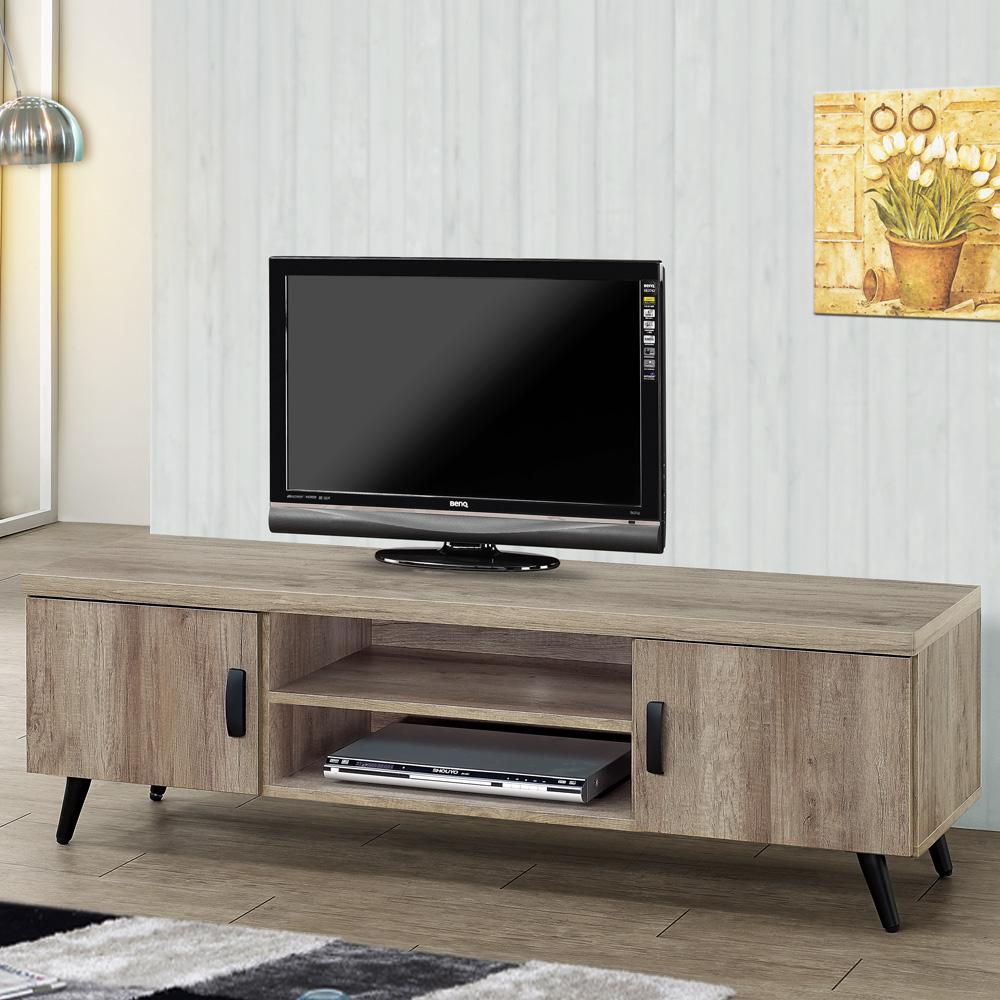 Homelike 里悟5尺電視櫃(古橡木)-147x40x47cm