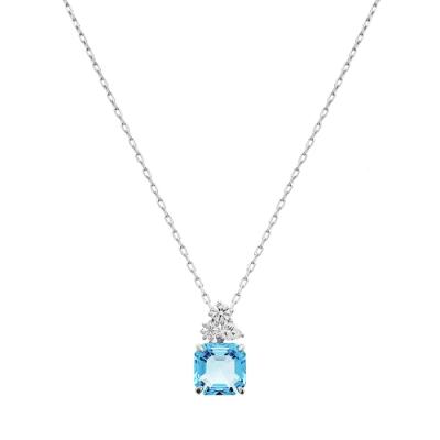 SWAROVSKI施華洛世奇SPARKLING 海藍水晶項鍊