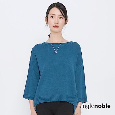 獨身貴族 都會色彩學落肩小羊毛針織衫(2色)