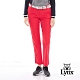 【Lynx Golf】女款透氣防水防風保暖幾何印花配色運動長褲-桃紅色 product thumbnail 2