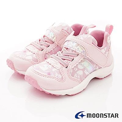 日本Carrot機能童鞋 2E貓咪印花款TW2134粉(中小童段)