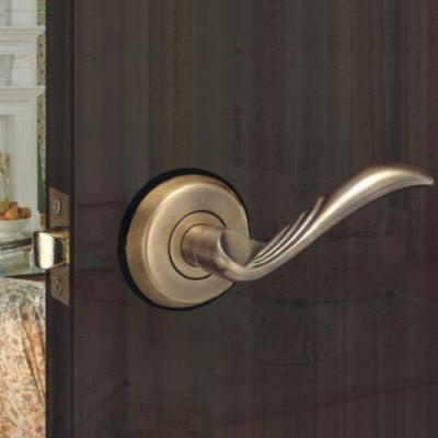 花旗 羽毛型 下座 水平把手 W3042 古銅 硫化鋁銅門 門鎖 板手鎖 水平鎖 把手鎖