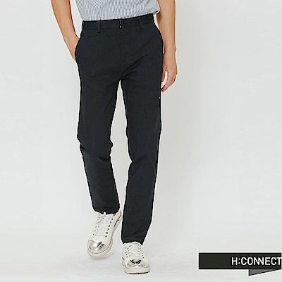 H:CONNECT 韓國品牌 男裝-簡約純色直筒長褲-藍
