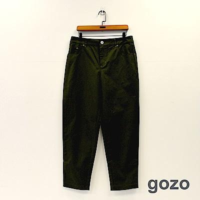 gozo 秋風素面棉料直筒褲(二色)