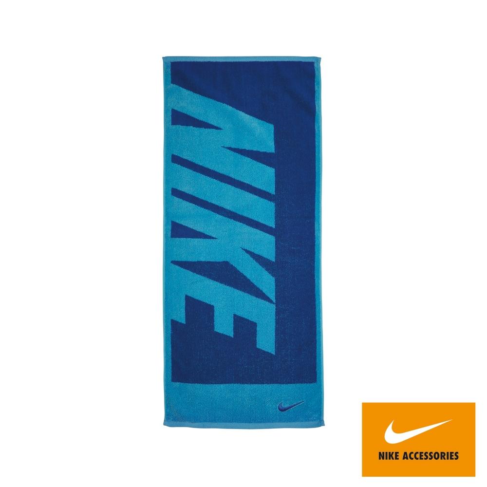 NIKE 運動毛巾 健身 慢跑 長形 中 80x35cm 藍 N1001539438
