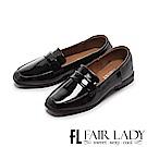 Fair Lady 有一種喜歡是早秋-復古經典漆皮樂福鞋 黑