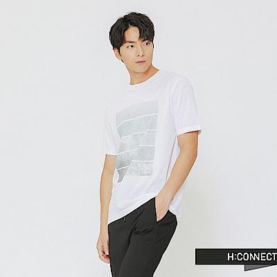 H:CONNECT 韓國品牌 男裝-風格圖像印刷上衣-白