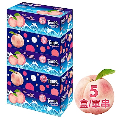 Tempo三層盒裝面紙-水蜜桃 86抽x5盒/串