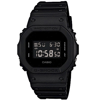 CASIO 卡西歐 G-SHOCK經典磨砂運動錶(DW-5600BB-1)