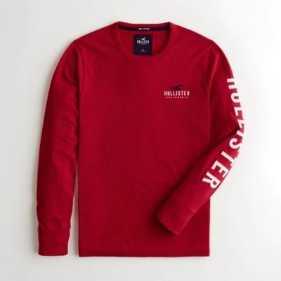 Hollister HCO 長袖 T恤 紅色  1435