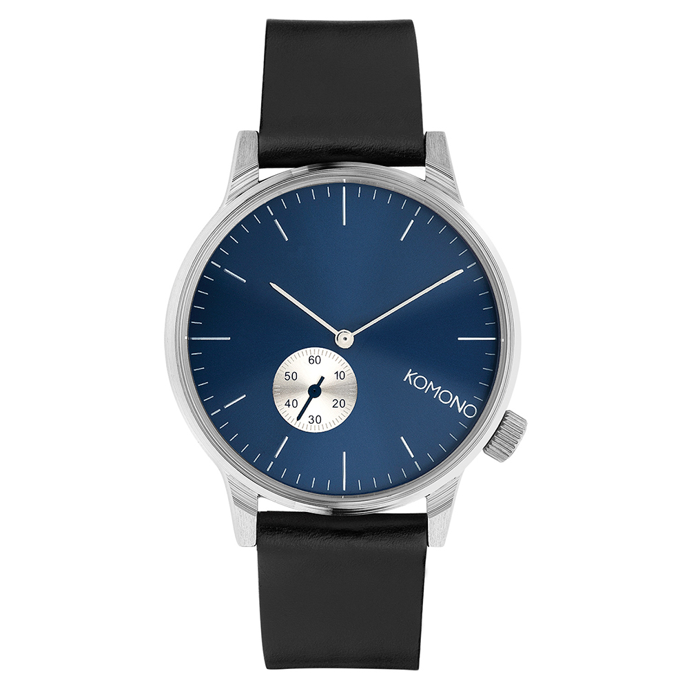 KOMONO Winston Subs 腕錶-銀河藍/41mm