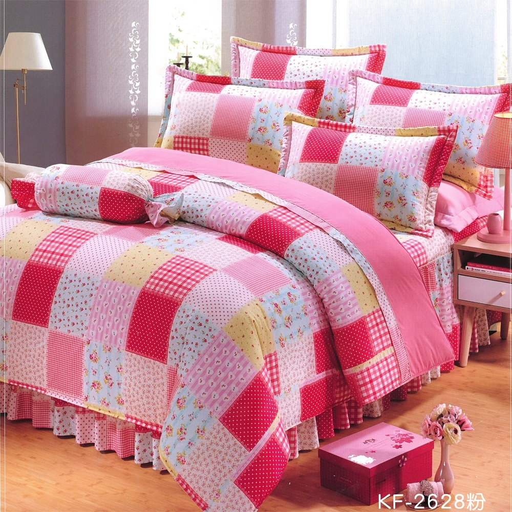 Carolan 小碎花  雙人五件式純棉床罩組(台灣製)