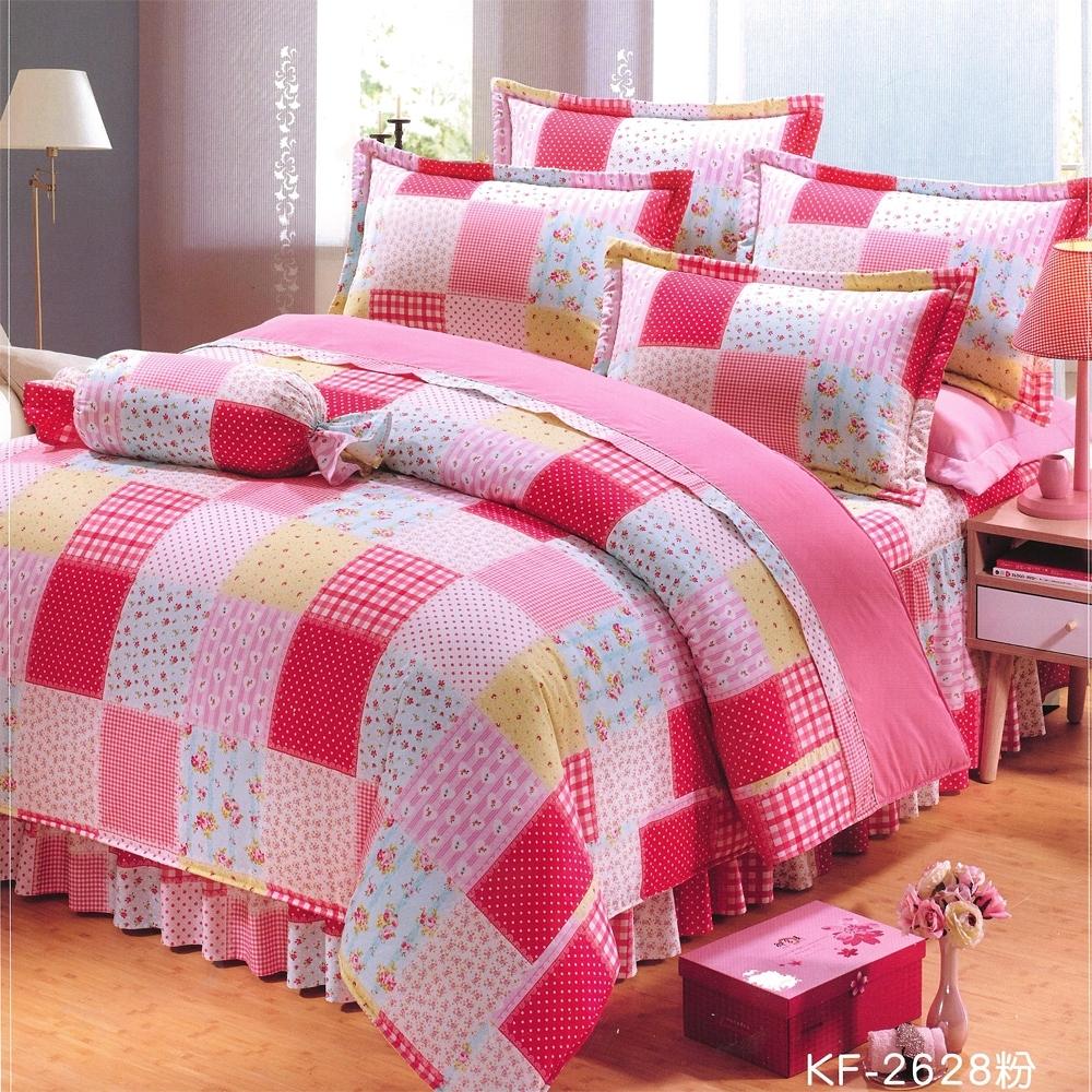 Carolan 小碎花  加大五件式純棉床罩組(台灣製)