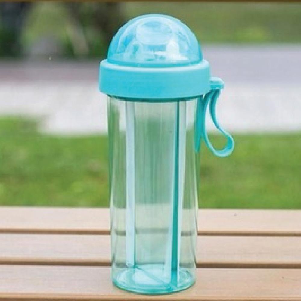 [團購6入]一杯雙飲 兩用分隔雙吸管杯-600ml(附吸管刷) product image 1