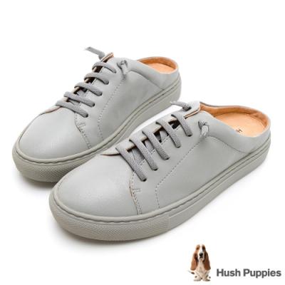 Hush Puppies Greenwich 女穆勒休閒鞋-墨灰色