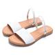 MAGY 壓紋羊皮兩穿寬版平底 女 涼拖鞋 白色 product thumbnail 1