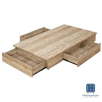 漢妮Hampton偉茲工業風3.5尺置物床底-106*188*26 cm