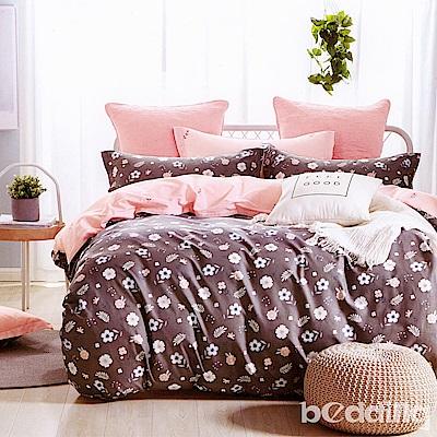 BEDDING-專櫃純棉6尺加大雙人薄式床包三件組-碎花拾影-灰