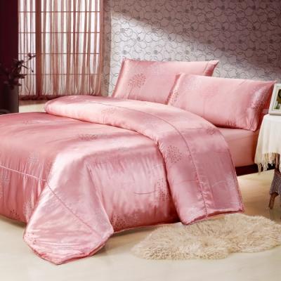 Goelia 蒲公英 絲緞加大四件式鋪棉兩用被床包組