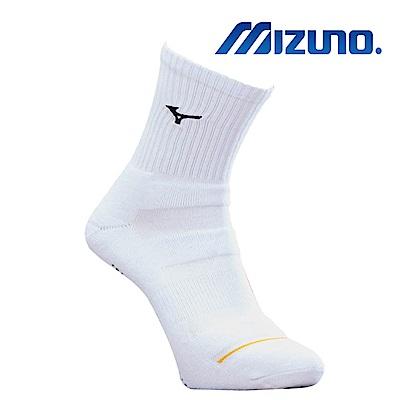 MIZUNO 男運動厚底襪 5入 白X黑 32TX900309