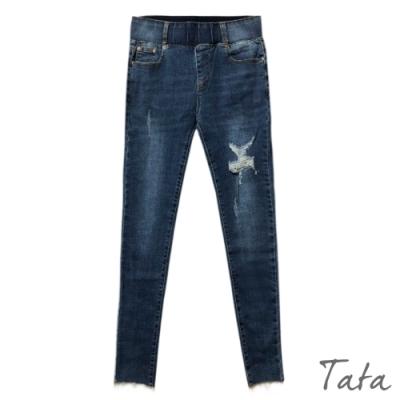 刷破星星造型牛仔褲 共二色 TATA-(M~XL)