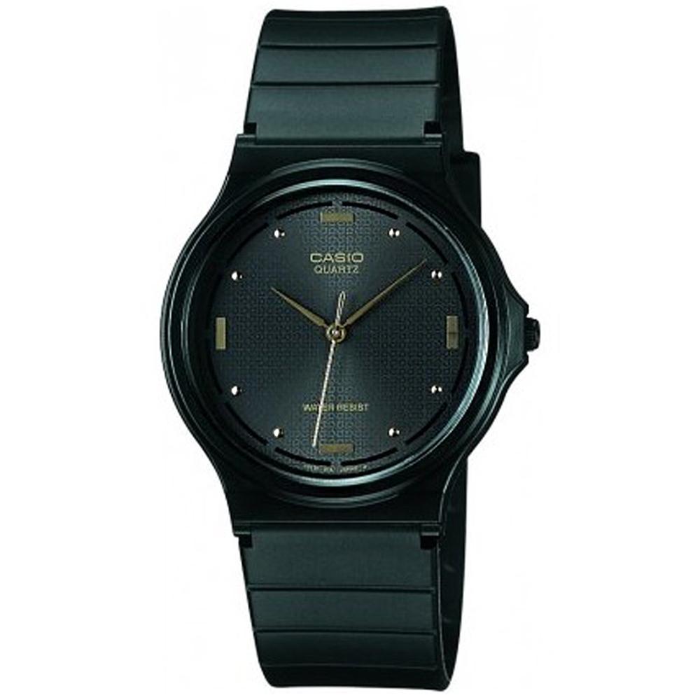 CASIO 基本款簡約男性指針腕錶-黑(MQ-76-1A)/38.8mm