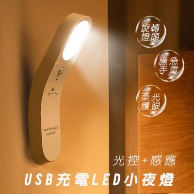 USB充電光控紅外感應壁掛LED燈