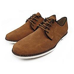 BuyGlasses 獨特風尚麂皮面鞋-棕