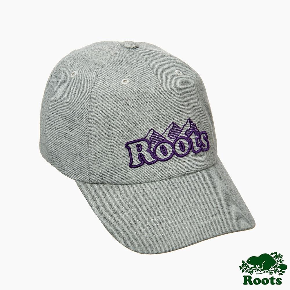 Roots男裝-曠野探索系列 撞色棒球帽-灰色