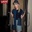 Levis 短袖牛仔洋裝 撞色拼貼