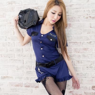 大尺碼深V女警制服角色扮演服 萌系軍裝cosplay服裝 流行E線