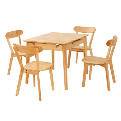 多瓦娜-亞比伸縮功能一桌四椅-1805二色-99x79x75cm