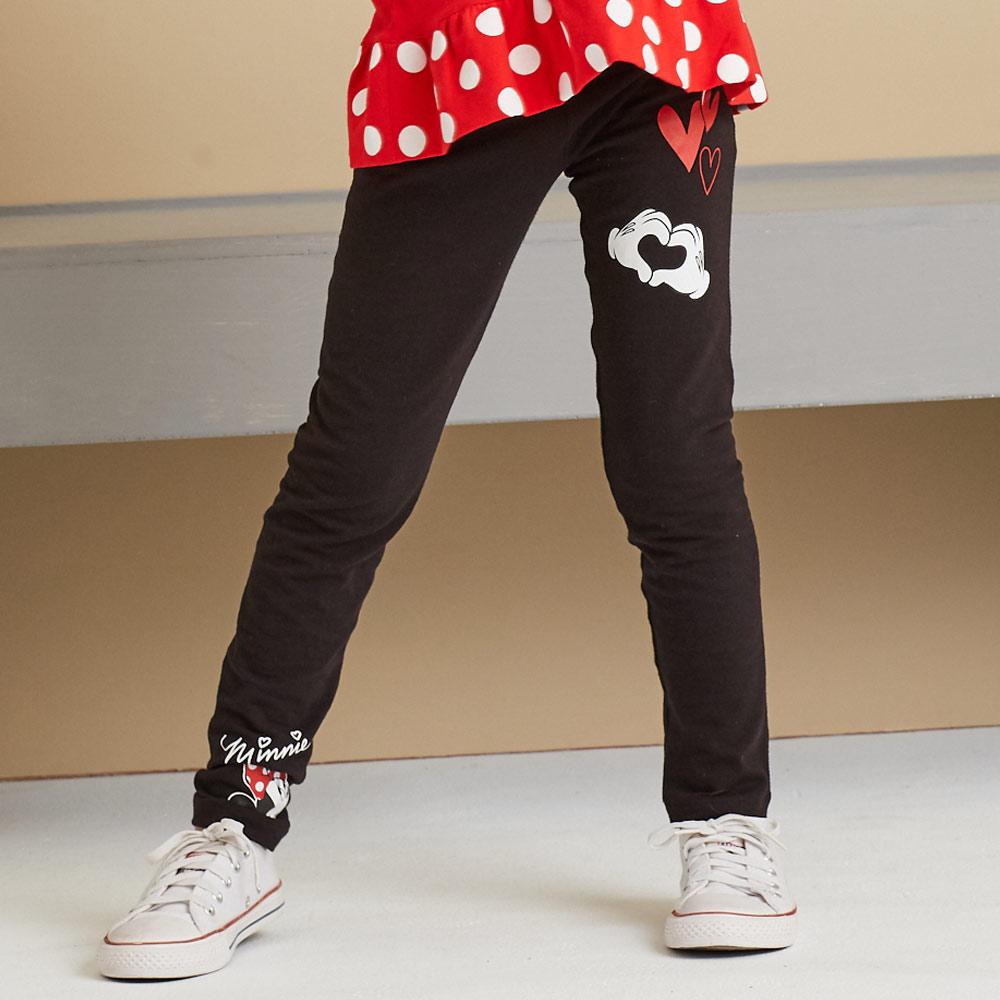 Disney 米妮系列愛心米妮彈力棉褲(共2色)