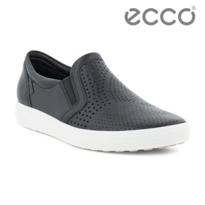 ECCO SOFT 7 W 時尚透氣休閒鞋 女鞋 黑色