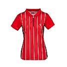 FILA女款抗UV吸濕排汗POLO衫-紅 5POS-5007-RD