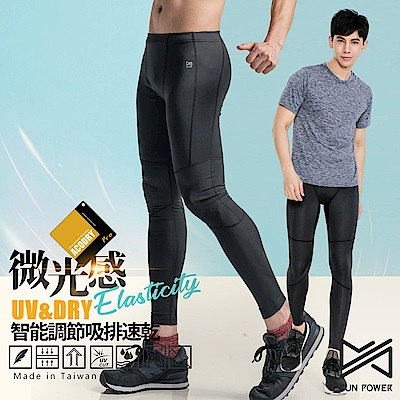 【Run Power】微光感織線速乾運動褲/男性專用(黑)