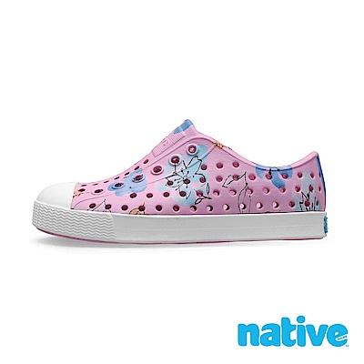 native 大童鞋 JEFFERSON 小奶油頭鞋-花卉粉
