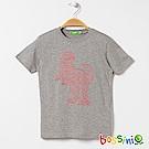 bossini男童-印花短袖T恤05淺灰