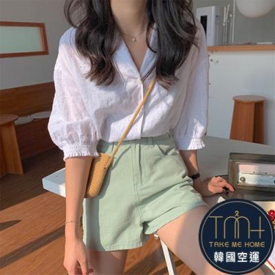 韓國空運 小圓點短版襯衫-TMH